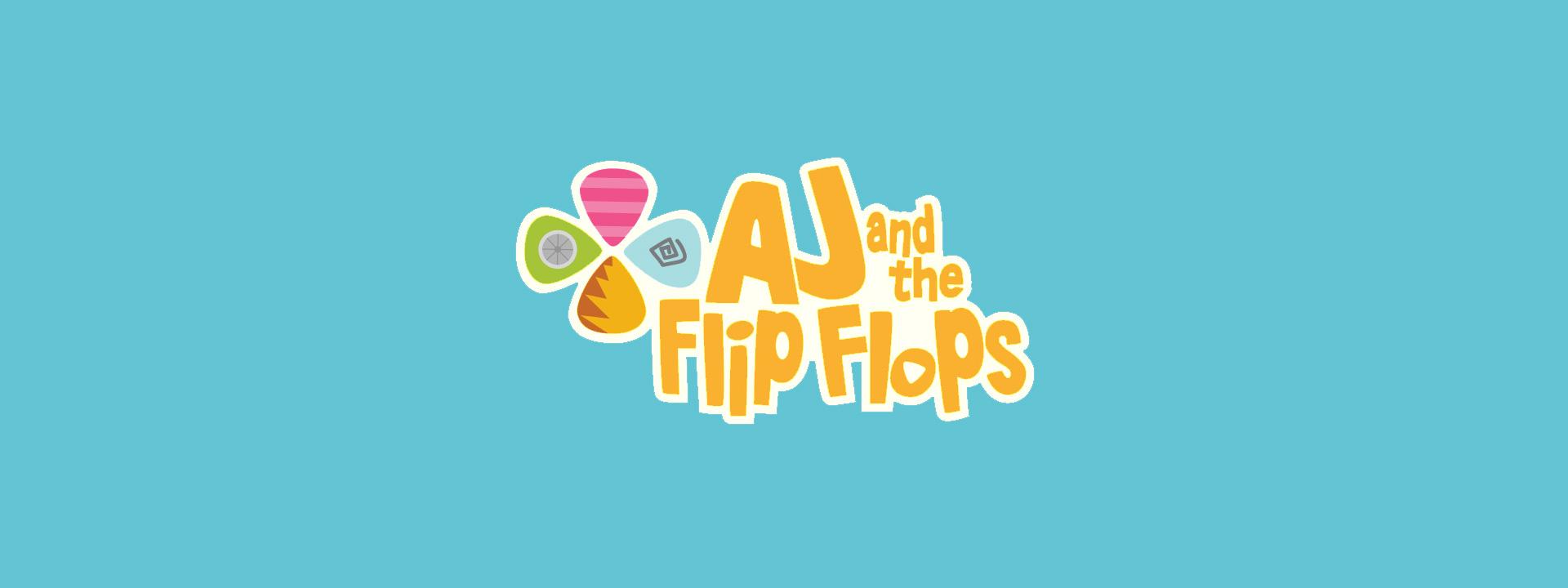 aj flip flops brand development illustration mobile apps production header