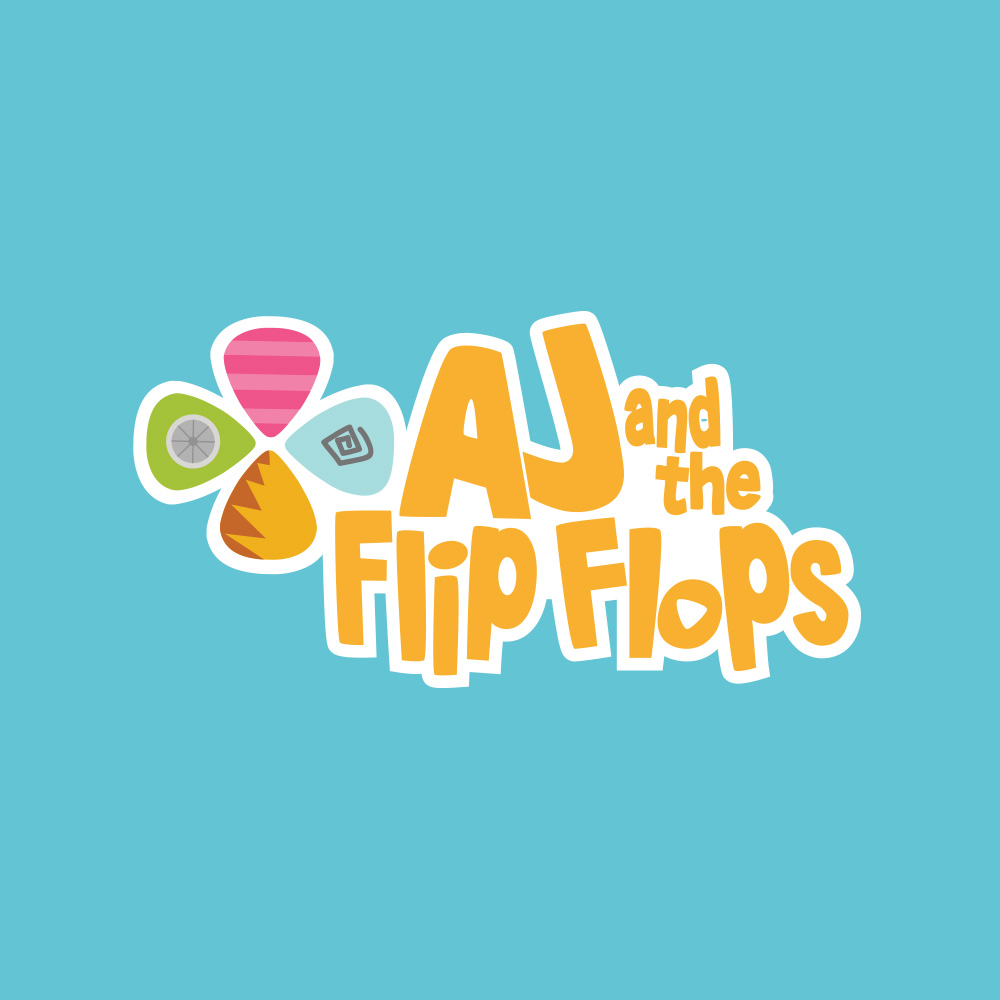aj flip flops brand development illustration mobile apps production