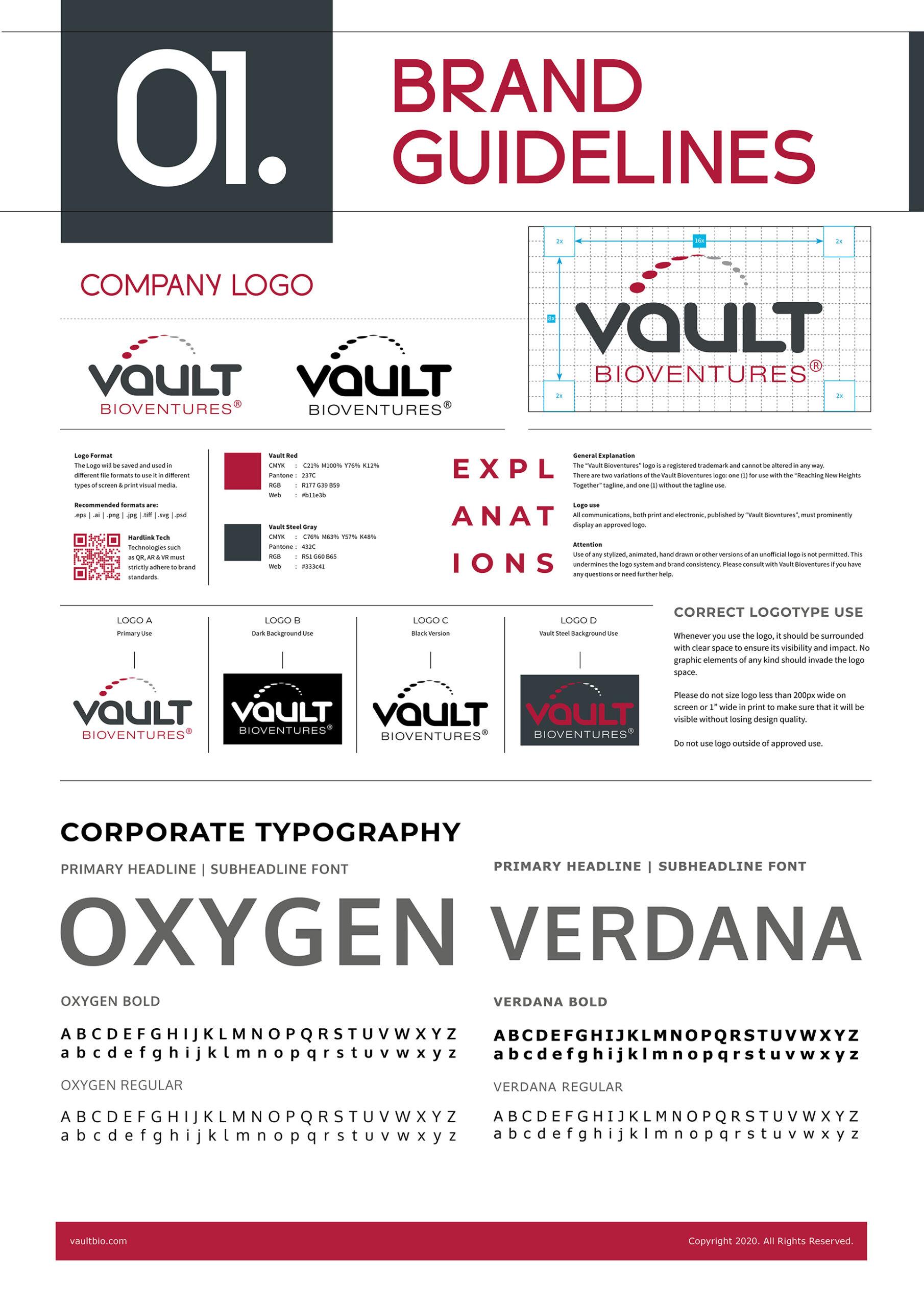 san diego brand manual logo design guidelines vault bioventures
