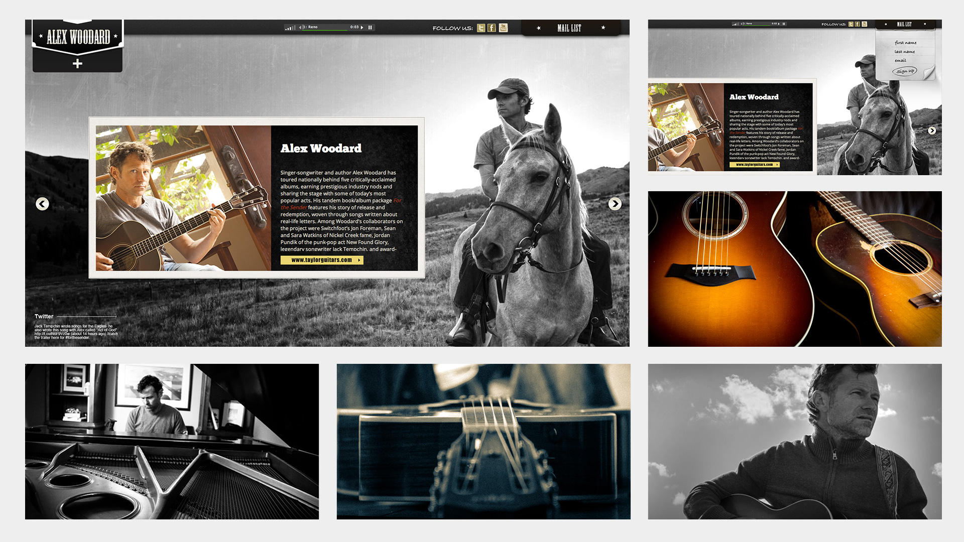 photography website design alex woodard